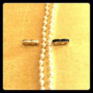 """Kenneth Lane 34"""" Strand of Pearls w Two Enhancers"""